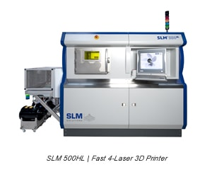 SLM 500 HL | Fast 4-Laser 3D Printer