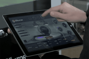 Orlas Creator tablet in hand