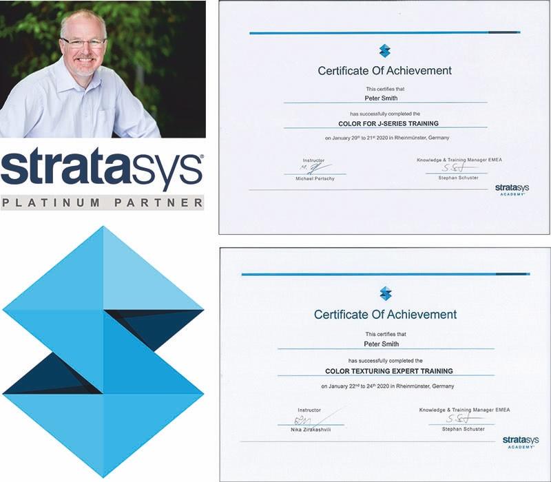Peter Smith Stratasys Certificates